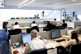 産業技術商社のオフィス